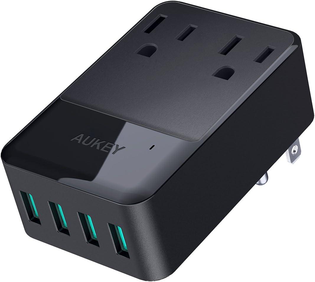 Amazon.com: Cargador USB de 2tomas de corriente y ...