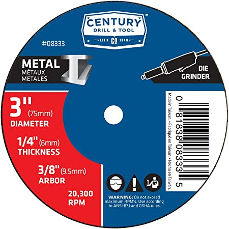 Century Drill and Tool 77341 Coarse Nylon Flap Brush 80 Grit 4-Inch