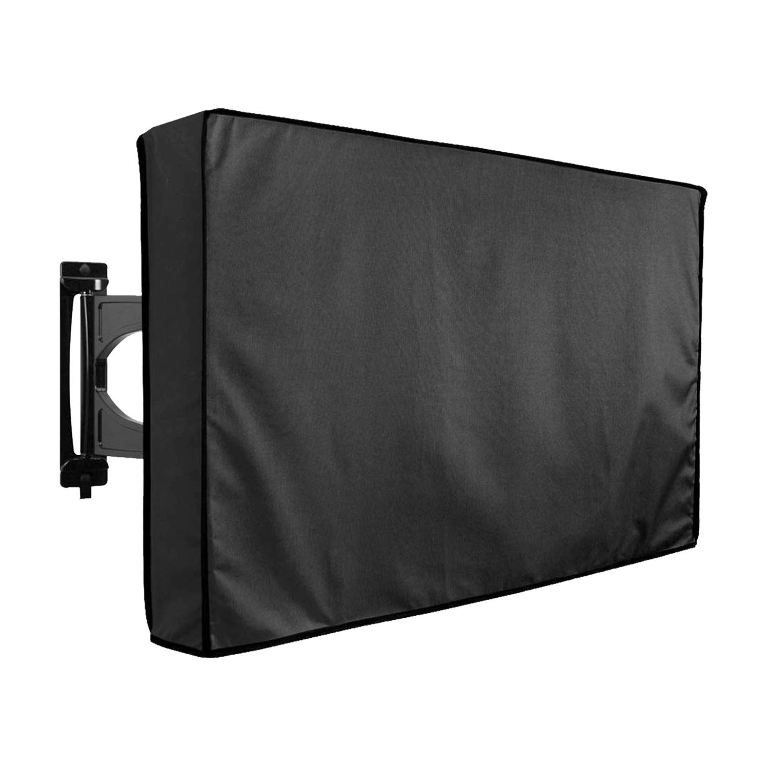 Outdoor TV Cover 52''- 58'' with Scratch Resistant Liner, Bottom Seal, Weatherproof Universal Protector LCD, LED, Plasma Television Sets, Built in Remote Controller Storage Pocket by Eichzhushp