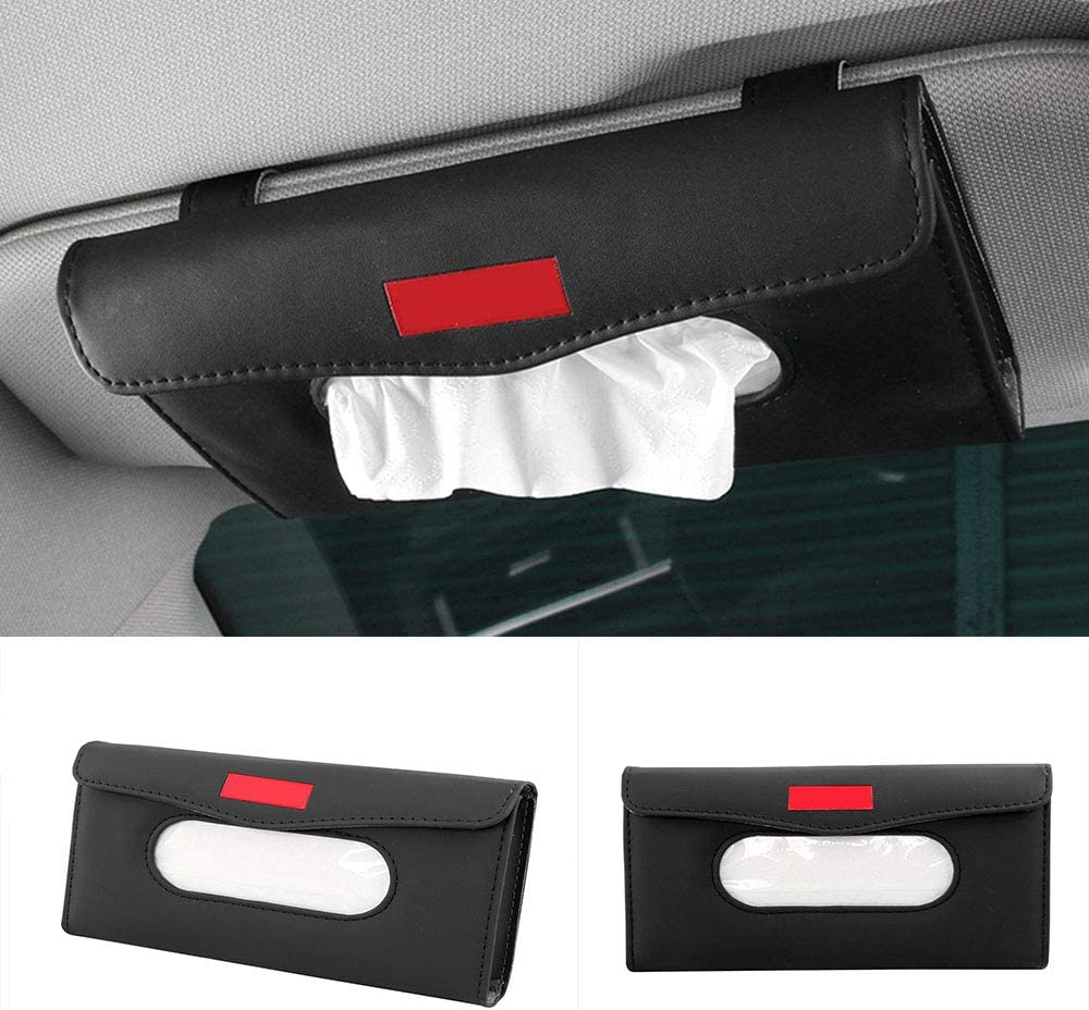 Yijueled Tissue Holder Car Tissue Box Cover Sun Visor Tissue Paper Holder Car Facial Tissue Box Napkin Holder Box Case Holder Car Tissue Dispenser for Car Home Office