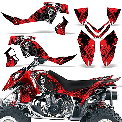 (Polaris Outlaw500 Outlaw525 2006-2008 Decal Graphic Kit ATV Quad Wrap Deco Outlaw 500 525 REAPER RED)