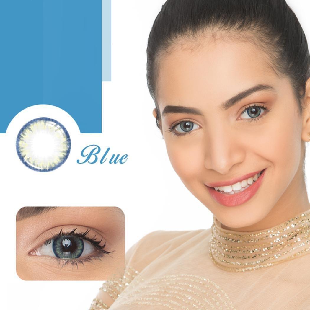 Ncient Un Par Lentillas 5 Colores Lentes de Contacto 0 Grado Maquillaje,Lanzamiento Annual