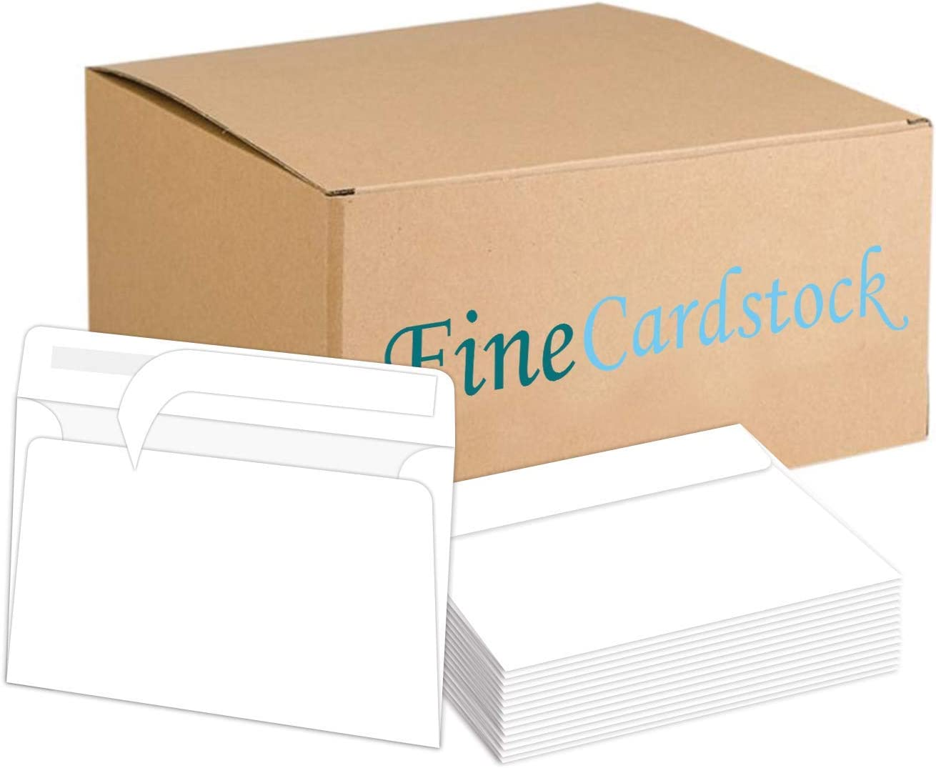 White Peel and Seal - A7 Envelopes - Fits 5 x 7 Invitations/Greeting Cards - 500 Envelopes Per Pack