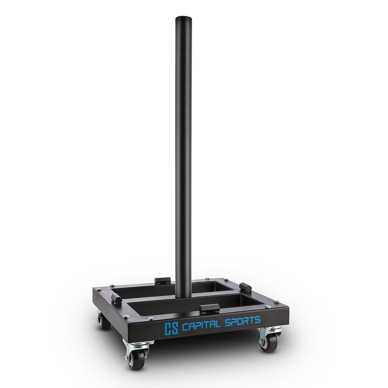 CAPITAL SPORTS Compristar • Hantelscheibenständer • Hantelbaum • Hantelscheibenablage • Gewichts-Scheiben-Trolley • Aufnahme  Scheiben mit 50 mm Durchmesser • max. Belastung  300 kg •