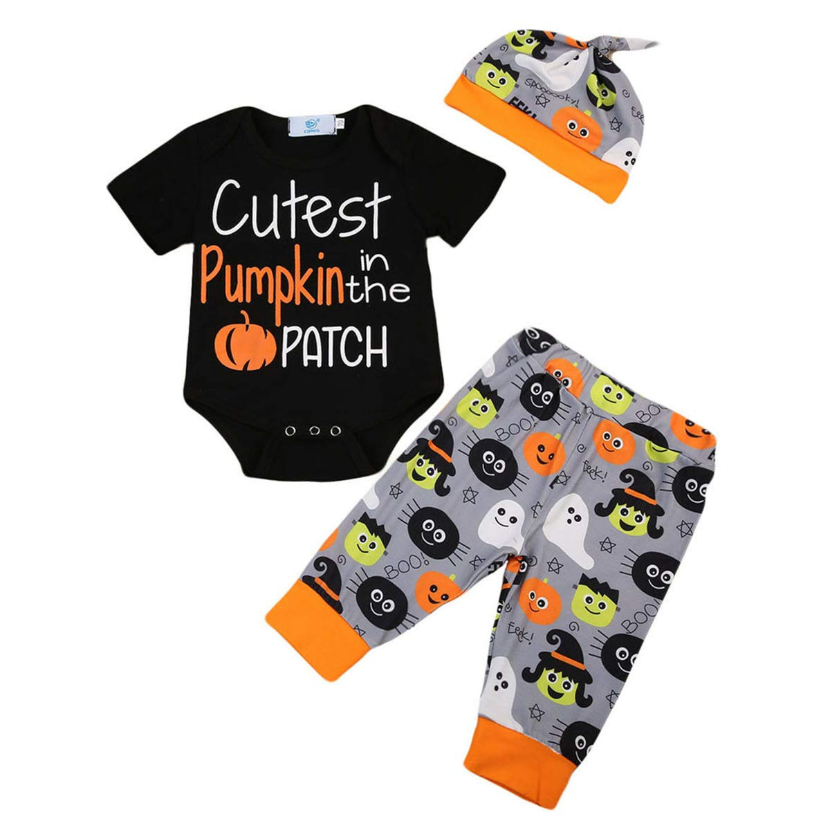 My First Thanksgiving Baby Girl Boy Outfit Long Sleeve Romper Bodysuit Tops Turkey Pants Headband Clothes Set