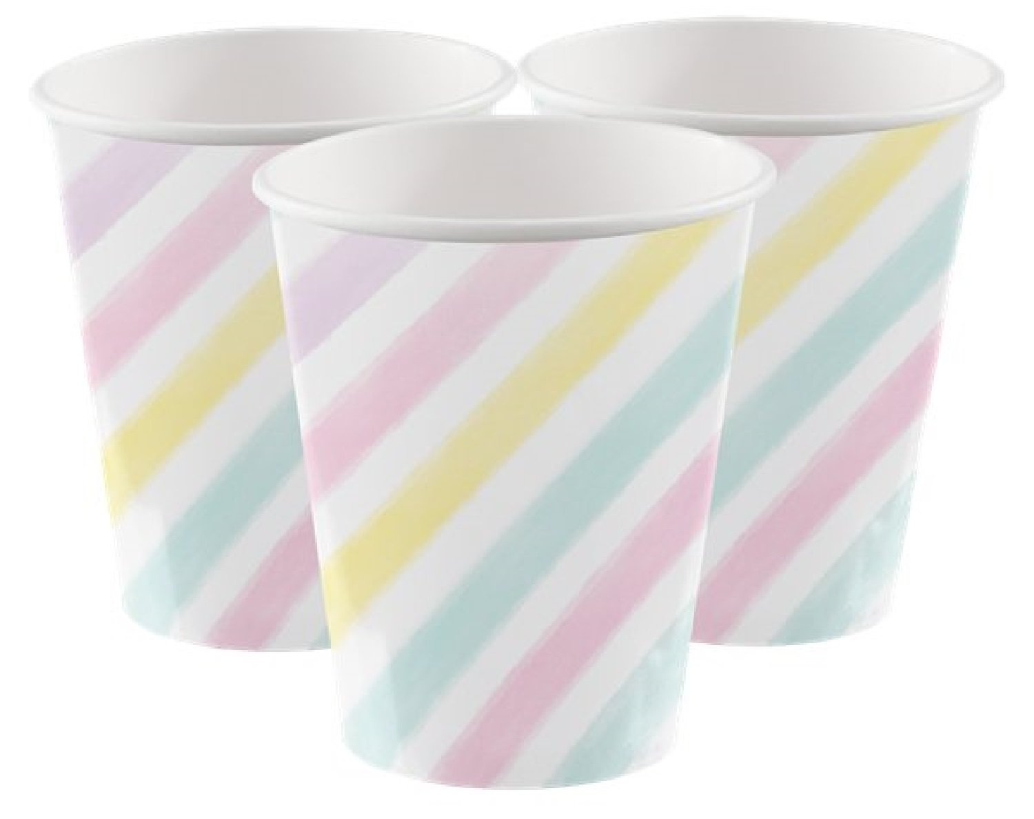 Fancy Me Girls Teens Ladies Birthday Cups Celebration Pastel Unicorn Sparkle Stripes Stars Party Paper Tableware Decorations Accessories (Cups)