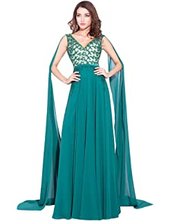 dba01a90b482 Lemai V Neck Sash Beaded Chiffon Multi Color Long Watteau Evening Formal  Dresses