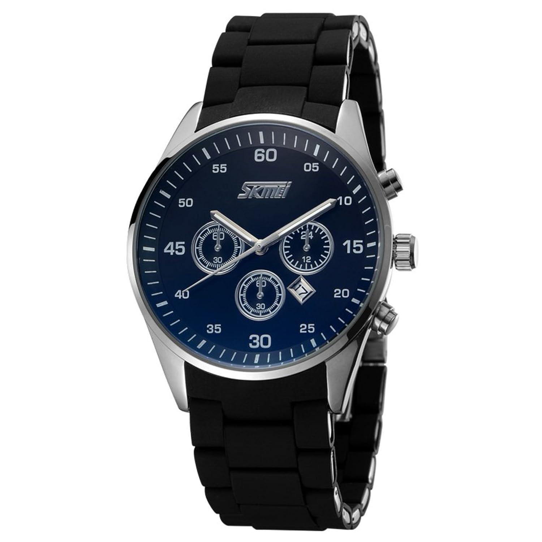 メンズビジネスカジュアル時計/メンズ防水大きなダイヤルとクロノグラフクオーツ腕時計/クラシックヴィンテージクオーツwatch-b B06XCDH31X