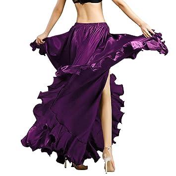 ROYAL SMEELA Jupe de Danse du Ventre pour Femme Costume de Danse du Ventre  Flamenco Volants ce028b2dbbc