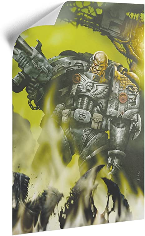 Warhammer Art Iron Hand-A3 Removable Canvas Poster Official Games Workshop Merchandise White 42 x 30 x 0.2 cm