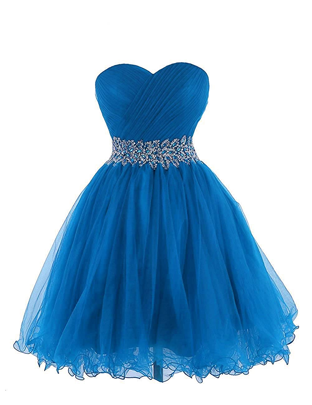 Uther Tulle Homecoming Prom Dresses Strapless Short Bridesmaid Dress Sleeveless Gowns