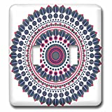 3dRose Sven Herkenrath Mandala - Fantasy Mandala Symbol Meditation Red Blue - Light Switch Covers - double toggle switch (lsp_254319_2)