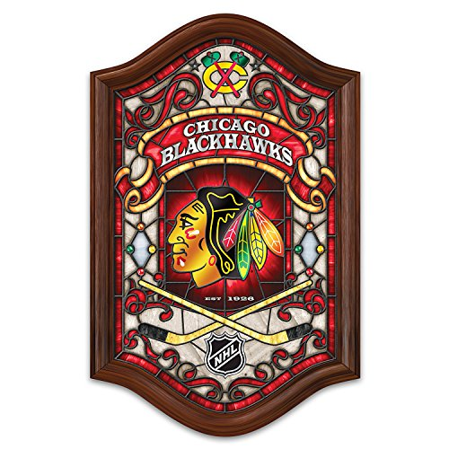 Chicago Stained Glass (Chicago Blackhawks Illuminated Stained Glass Wall Decor from Bradford)