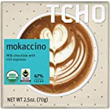TCHO Mokaccino Milk Chocolate Bars 2.5 oz each (1 Item Per Order)