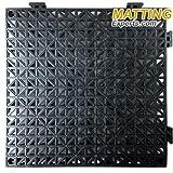 VinTile Modular Interlocking Cushion Floor Tile Mat Non-Slip with Drainage Holes for Pool Shower Locker-Room Sauna Bathroom Deck Patio Garage Wet Area Matting