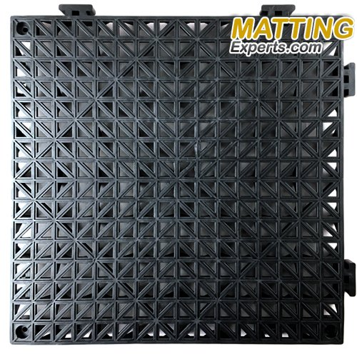 VinTile Modular Interlocking Cushion Floor Tile Mat Non-Slip with Drainage Holes for Pool Shower Locker-Room Sauna Bathroom Deck Patio Garage Wet Area Matting (Pack of 6 Tiles - 11.5'' x 11.5'', Gray) by MattingExperts (Image #3)