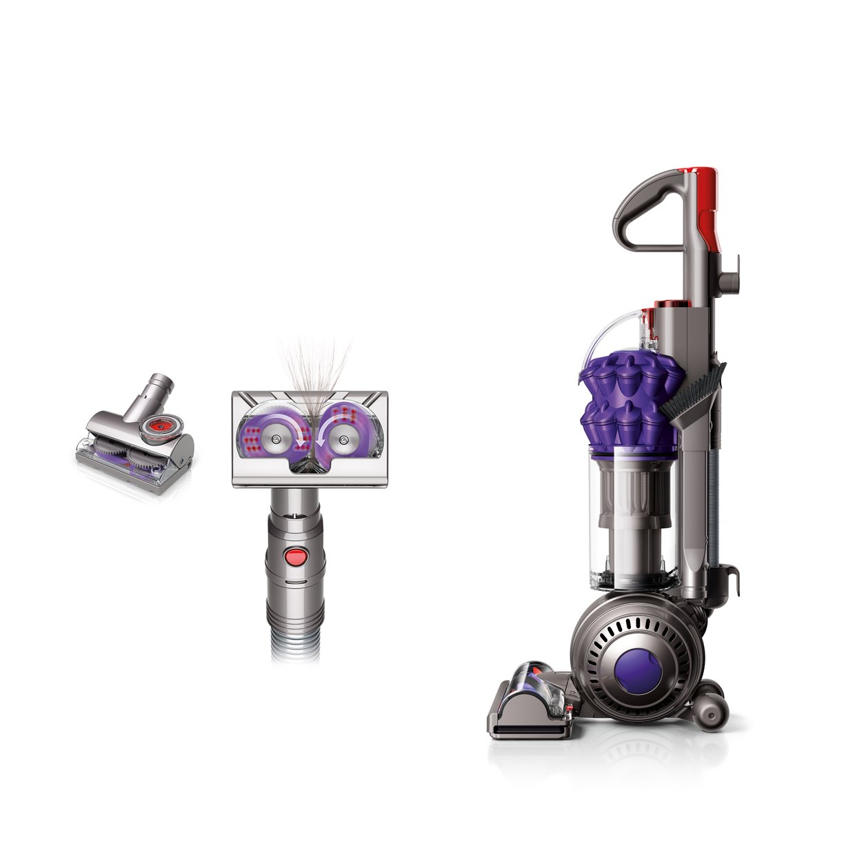 Dyson DC50 Ball Multi Floor Compact Upright Vacuum Cleaner, Iron/Purple - Corded