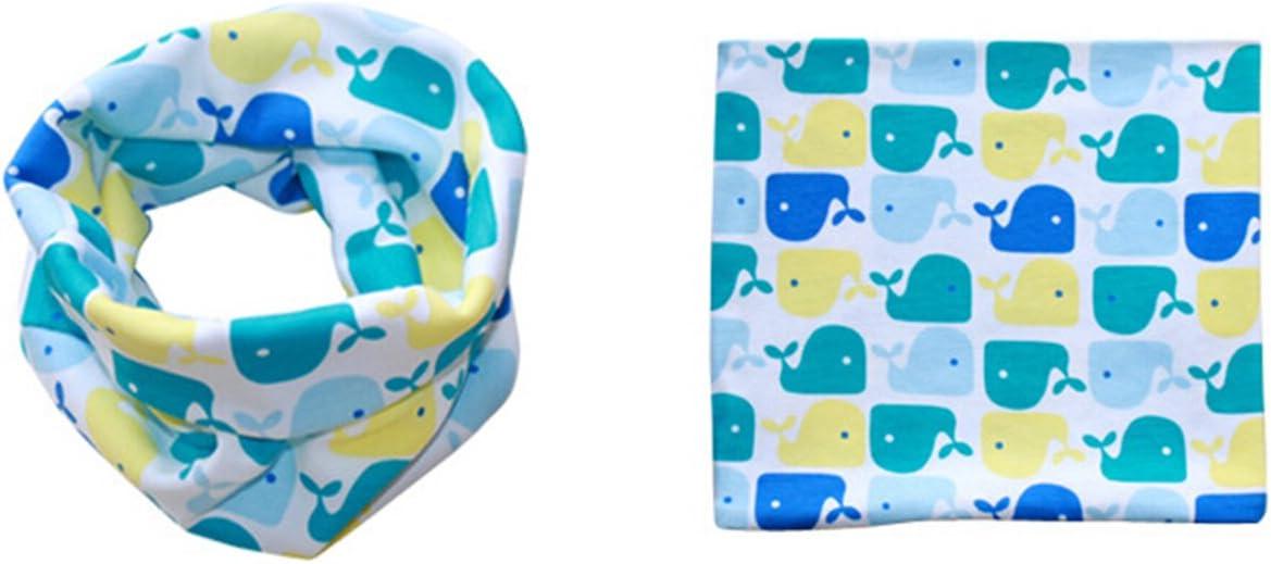 Butterme Sciarpa morbida per il pelo del cotone del ragazzo del cotone del ragazzo del fumetto di stampa del cappello della sciarpa sveglia per i bambini di 1-8 anni