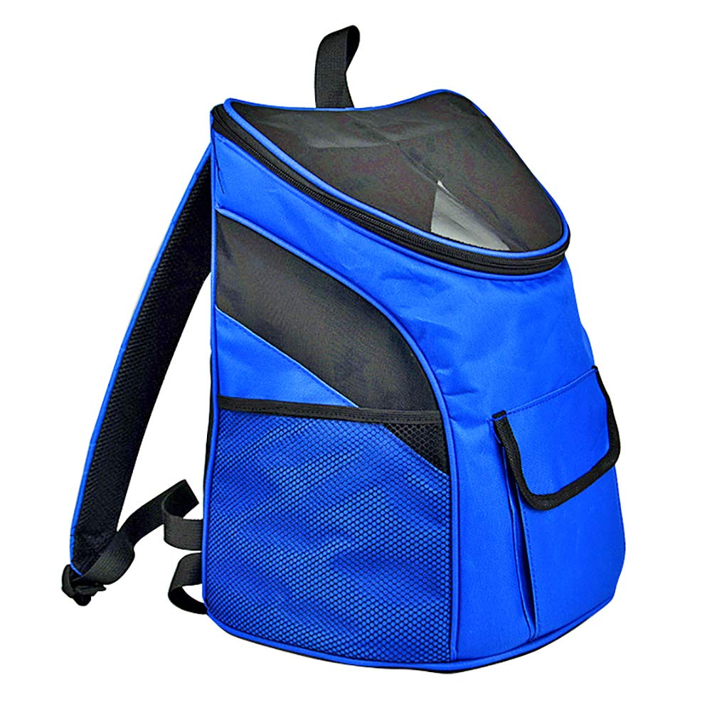 L(362740cm) Cat and Dog Backpack, Portable MultiFaceted Breathable Shoulder Bag, Pet Backpack Suitable for Outdoor Travel   Climbing, 2 Size Optional, bluee