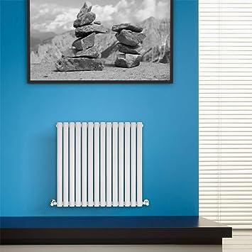 BestBathrooms Design-Heizkörper Horizontal Weiß - 600 x 834 mm ...