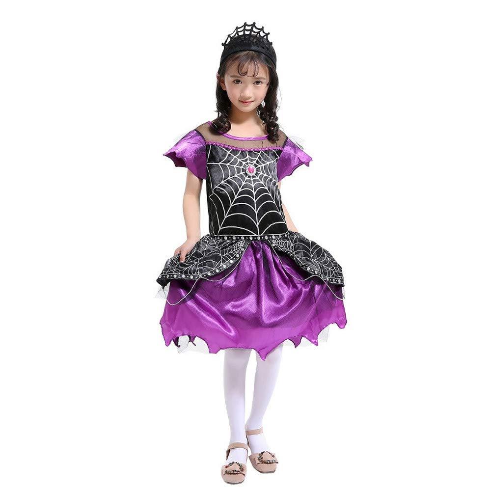 K-youth Disfraz Araña de Halloween para Niñas Ropa De Bebé Niña Halloween Araña Dress Cosplay Disfraz Vestidos Niña y Diademas