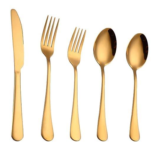 TAOtTAO - Juego de 5 cucharillas de acero inoxidable para ...