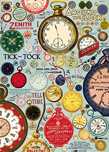 (Cavallini & Co. Vintage Clocks Poster Wrapping Paper Sheet)