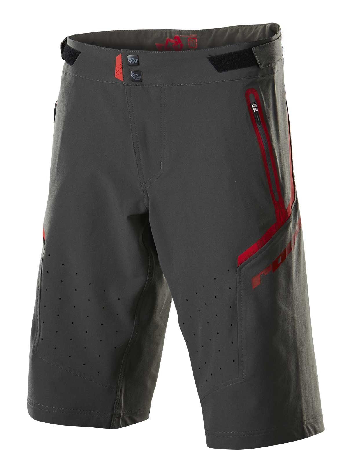 Royal Racing Impact Shorts, Charcoal/Flo Red, X-Large