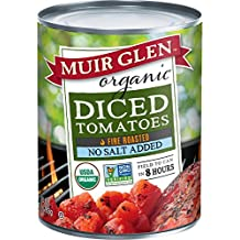 Muir Glen Organic Diced Tomatoes Fire Roasted No Salt, 28 oz