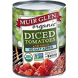 Muir Glen Organic Diced Tomatoes Fire Roasted No Salt, 28 oz