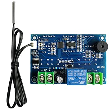 Regulador de Temperatura del Termóstato de la Pantalla LED de 12V digitaces con el Sensor de