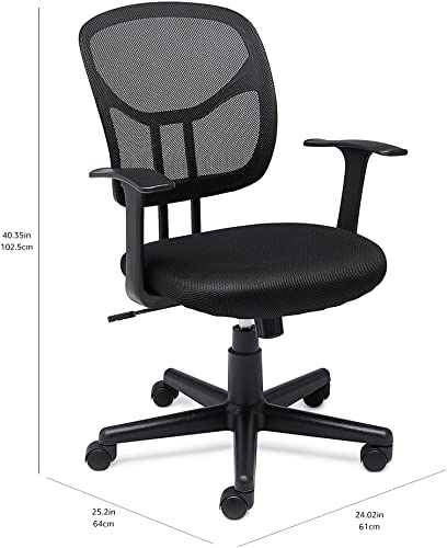 Amazon Basics Mesh, Mid-Back, Adjustable, Swivel Office Desk Chair