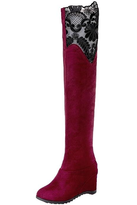 Unbekannt Knie Hohe Stiefel High Heel Damen Herbst Winter