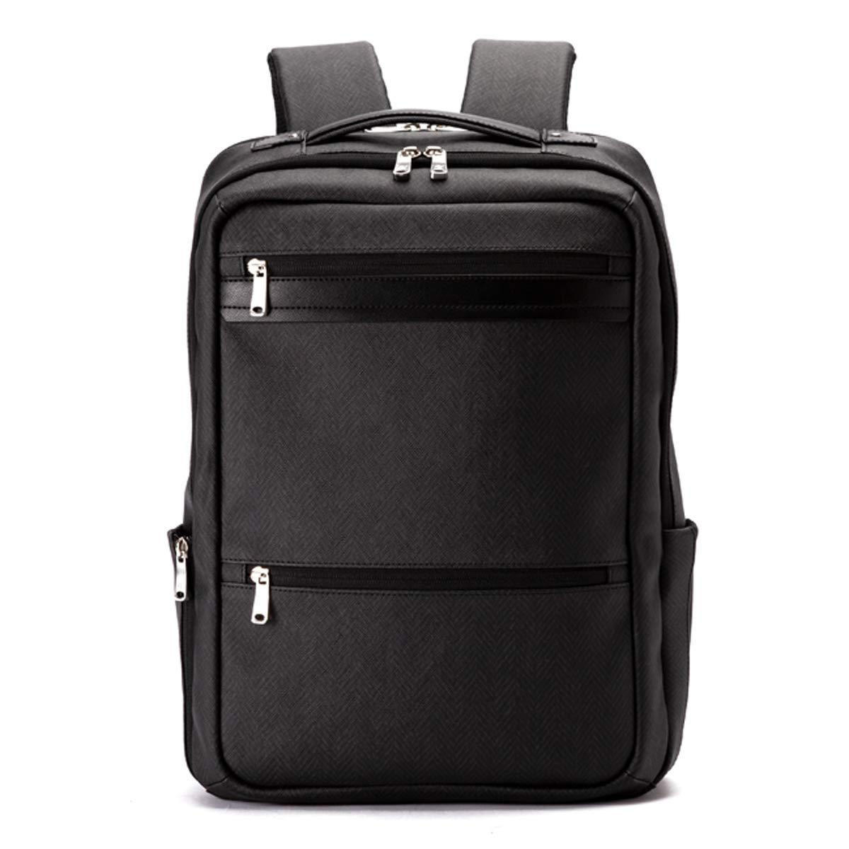 [RAIZON(レゾン)] ビジネス リュック メンズ PCバッグ 防水 ヘリンボン柄  ブラック B07NW8VR2H