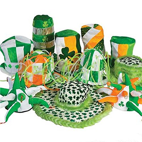ST. PATRICKS DAY ST. PATS HAT ASSORTMENT 1 DOZEN by RIN001