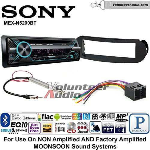 Sony MEX-N5200BT Single Din Radio Install Kit with Bluetooth, CD Player, USB/AUX Fits 1998-2011 Volkswagen Beetle - (Non Amplified and Monsoon Vehicles Only)