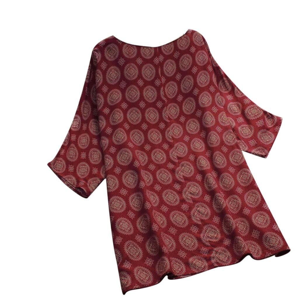 MILIMIEYIK Blouse Tops for Leggings Women's Long Sleeve Floral Shirts Pleated Flared Casual Buttons Tunic Top V Neck T Shirts