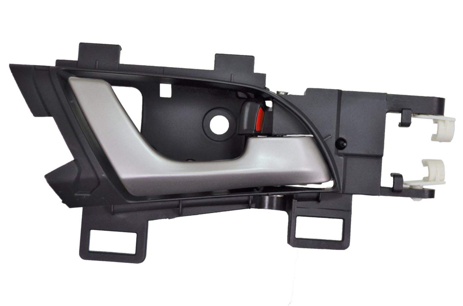 Interior Inner Inside Door Handle PT Auto Warehouse HO-2307RA-RR Rear Right Passenger Side Silver Lever with Black Housing