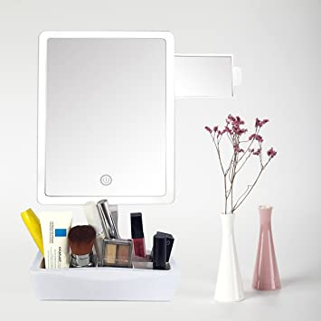 Artifi Lighted Makeup Mirror  Large LED Vanity Mirror with 10X Insert Magnifying  Mirror and MakeupAmazon com   Artifi Lighted Makeup Mirror  Large LED Vanity Mirror  . Large Lighted Vanity Mirror. Home Design Ideas
