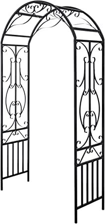 Amazon Com Kinbor Garden Arches And Arbors Outdoor Black Metal