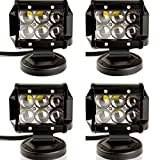 TURBO SII 4Pcs 4inch 18W Led Work Light Spot Beams Fish Eye 4D Lens For Jeep Atv Utv Golf Cart Lighting Trucks Pickup Ford F150