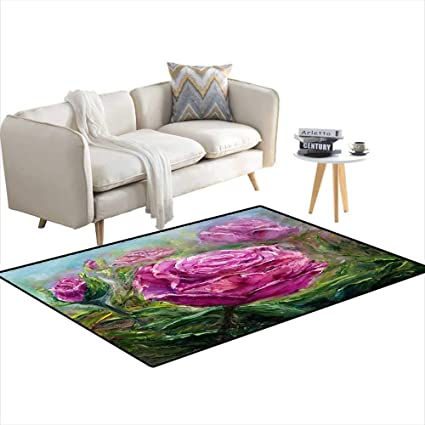 Amazon.com: Area Rugs for Bedroom Pink Peonies 36\
