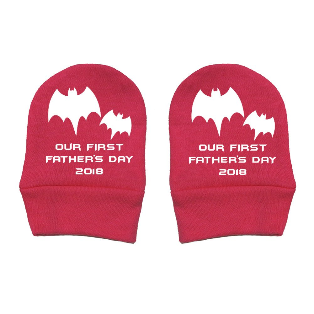 Two Bats Thick Premium Mashed Clothing - Daddy Gift Fathers Day Our First Fathers Day 2018 Thick /& Soft Baby Mittens