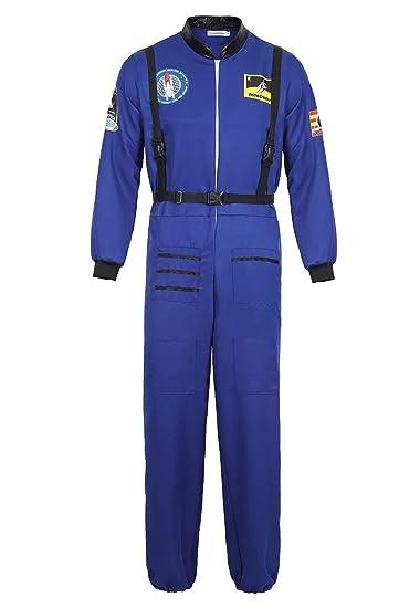 aizen Disfraz Astronauta Adulto para Hombre Halloween Carnaval Americano Cadete del Espacio Cosplay