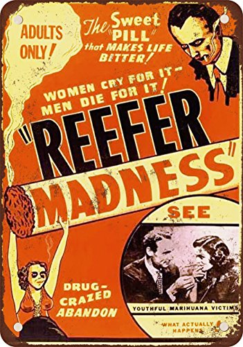 9 x 12 METAL SIGN - 1936 Reefer Madness Movie - Vintage Look Reproduction