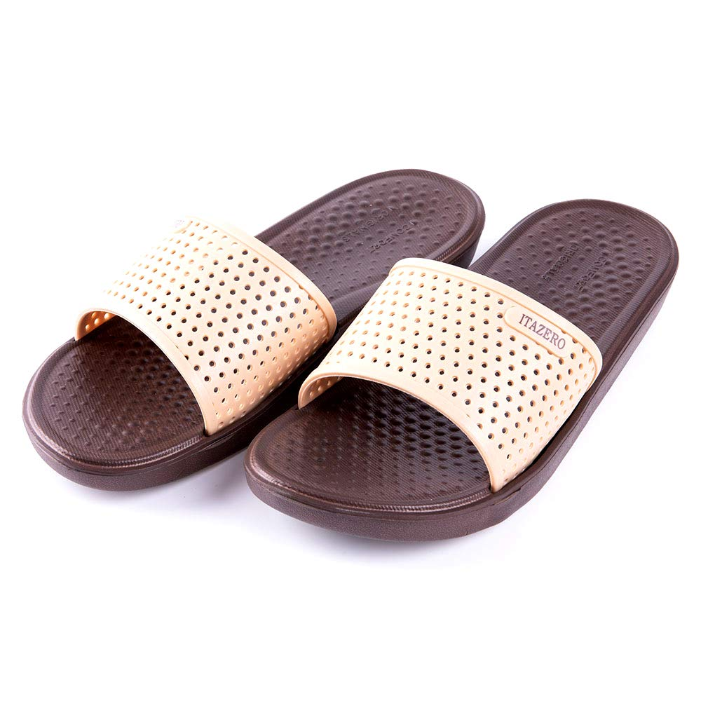 90b5fa7cd ITAZERO Mens Slides Sandals Adult Comfort Anti-Slip Shower Home Beach  Slider Sandals Shoes