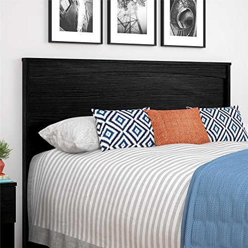 Ameriwood Home Crescent Point Full Size Headboard, Black (Double Black Headboard)
