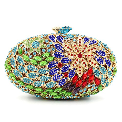 New Shiny bag Evening Oval High Green Diamond Clutches Holding Luxury grade Handbags Purses afwrqa