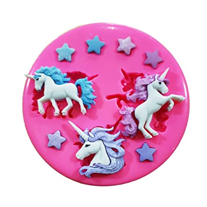 Magical Unicorns and Stars Silicone Mould by Fairie Blessings Huis Koken en tafelen