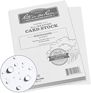 """product image for Rite in the Rain All Weather Card Stock, 5"""" x 7"""", 100# White, 80 Sheet Pack (No. HW57)"""